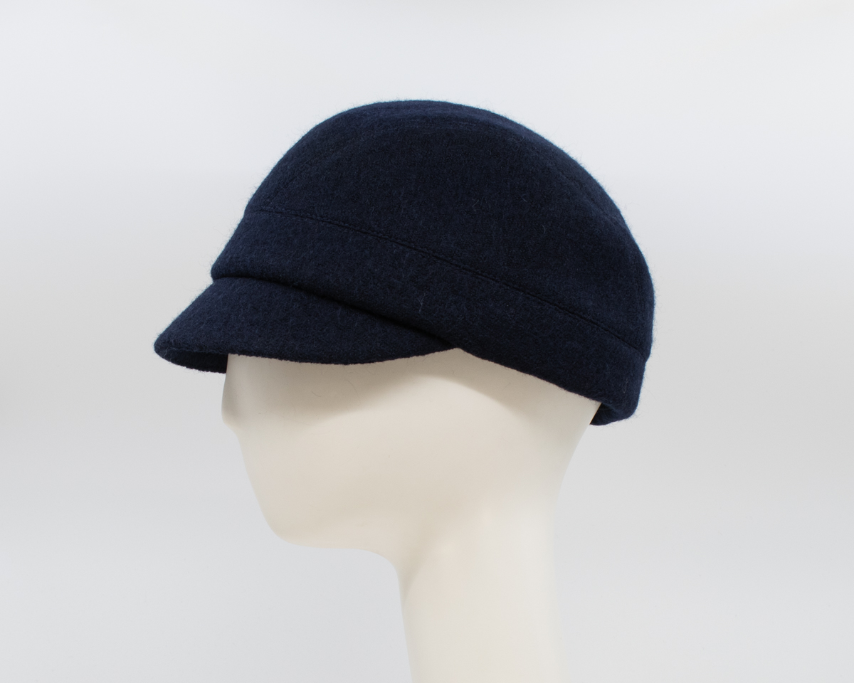Boiled Wool: Casey - Navy (Side View)