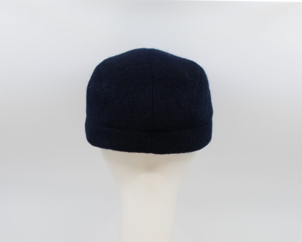 Boiled Wool: Casey - Navy (Back View)