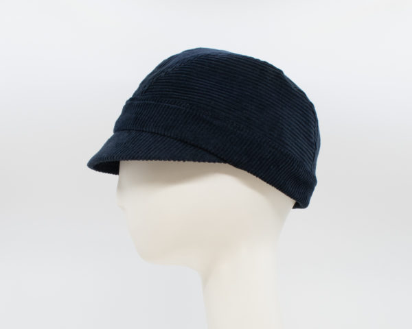 Corduroy: Casey - Navy (Side View)