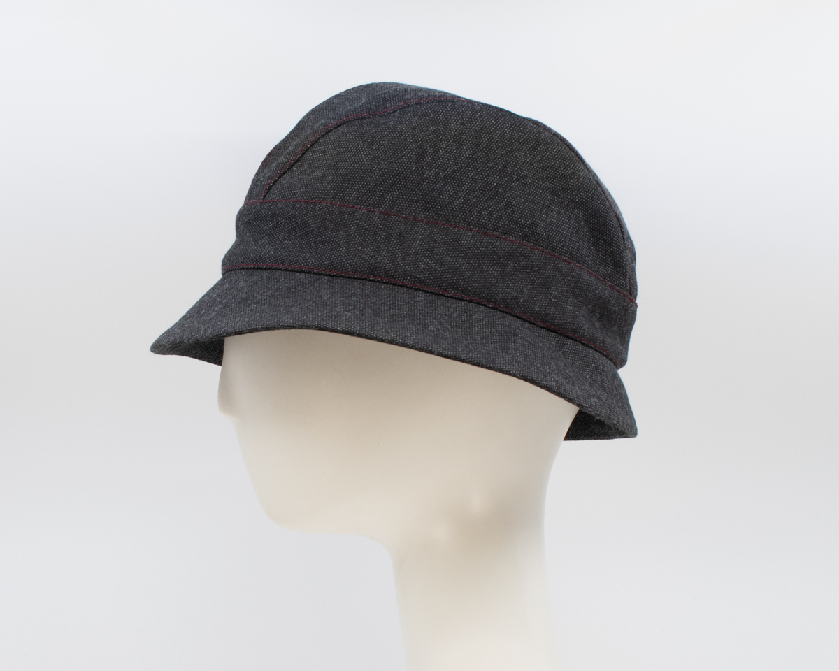 Maritime Mist: Aubrey - Charcoal/Red (Side View)