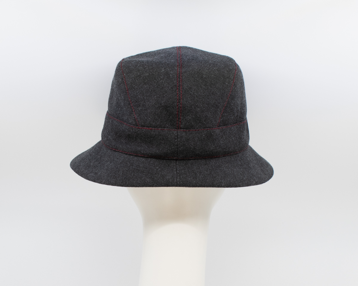 Maritime Mist: Aubrey - Charcoal/Red (Back View)